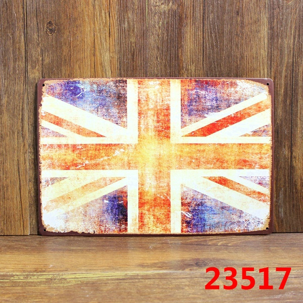 ⑤Modern Design UK Flag Tin Sign Vintage Metal Plaque Tin Sheet Home on home ice cream parlor designs, home brewery designs, home salon designs, home shop designs, home outdoor patio designs, home grill designs, home room designs, home bar designs,