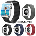 COMLYO Fashion Magnetic Loop For Apple Watch band 42mm 38mm Leather Strap for iwatch Band Sport Fitness Edition built-in adapter