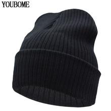 Beanies Winter Hat For Men Knitted Hat Women Winter Hats For Women Men Knit Caps Blank Casual Wool Warm Flat Bonnet Beanie 2016