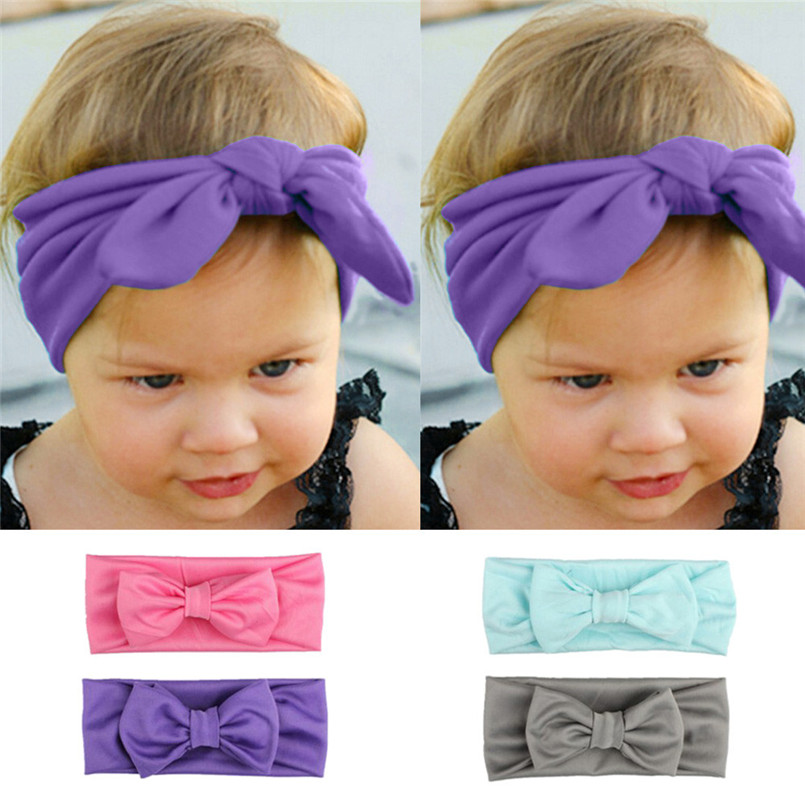 Dashing Headwear Baby Girl Headband Baby Kids Girls Rabbit Bow Ear Cotton Hairband Turban Knot Head Wraps Tiara Infantil #4s10 To Be Highly Praised And Appreciated By The Consuming Public