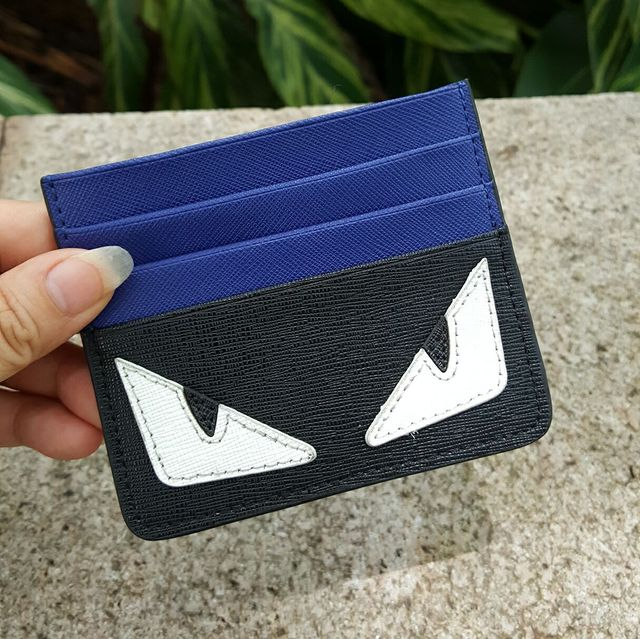 brand business card holder Monster Eye 2016 genuine leather women men pocket credit card holder