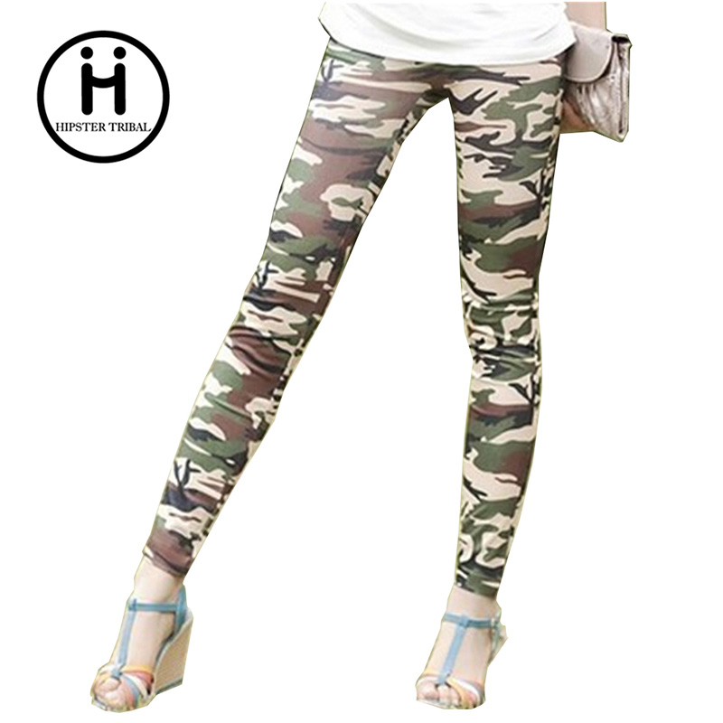 New 2016  Women'S Leggings Casual fitness camouflage High Waist Elastic Fashion Fitness Workout Camo Color Leggings Pants