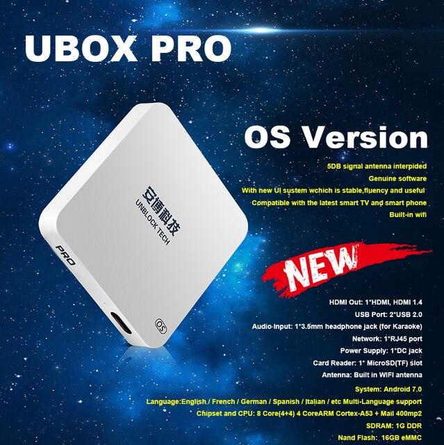 [Chính hãng] Bỏ Cấm UBOX 5 hệ điều hành với Bluetooth Android TV HD Hộp 1 + 16 gam 8 core hỗ trợ 1000 + chns thông minh tv box miễn phí suốt đời cho Trung Quốc
