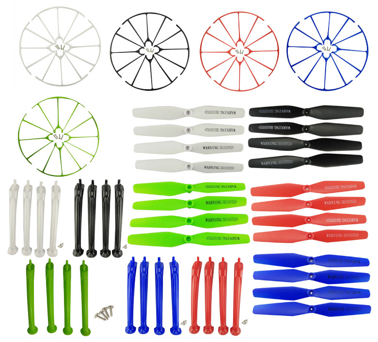 BLL SYMA New X5H X5HC X5HW axis WIFI UAV landing gear parts tripod blade propeller protection ring protective sleeve