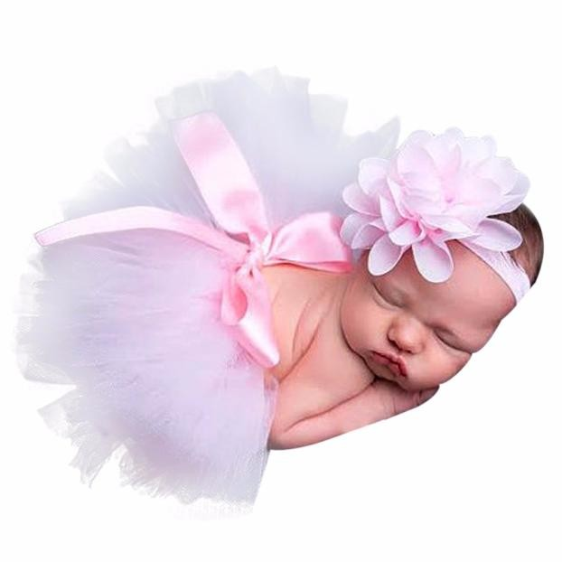 Newborn Photography Props Infant Costume Outfit  Cute Baby Girls Boys clothing Skirt  + Headband Baby Photography Prop nice LD newborn baby photography props infant knit crochet costume peacock photo prop costume headband hat clothes set baby shower gift