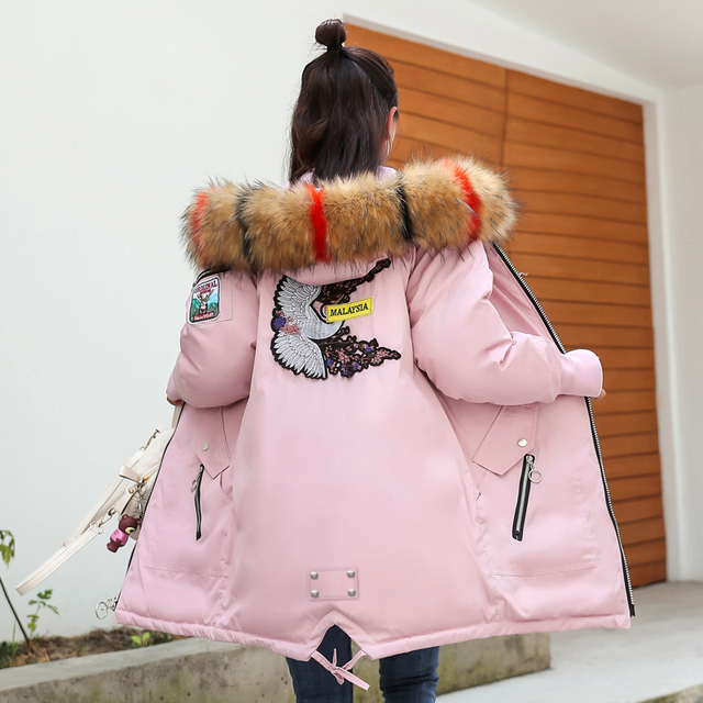 Get Discount Price Winter Jacket Girls Down Coat Girl Kid Cold Winter Jacket Boy Jacket 19 Girl Clothes Party Coat -30 Degrees18 College Students