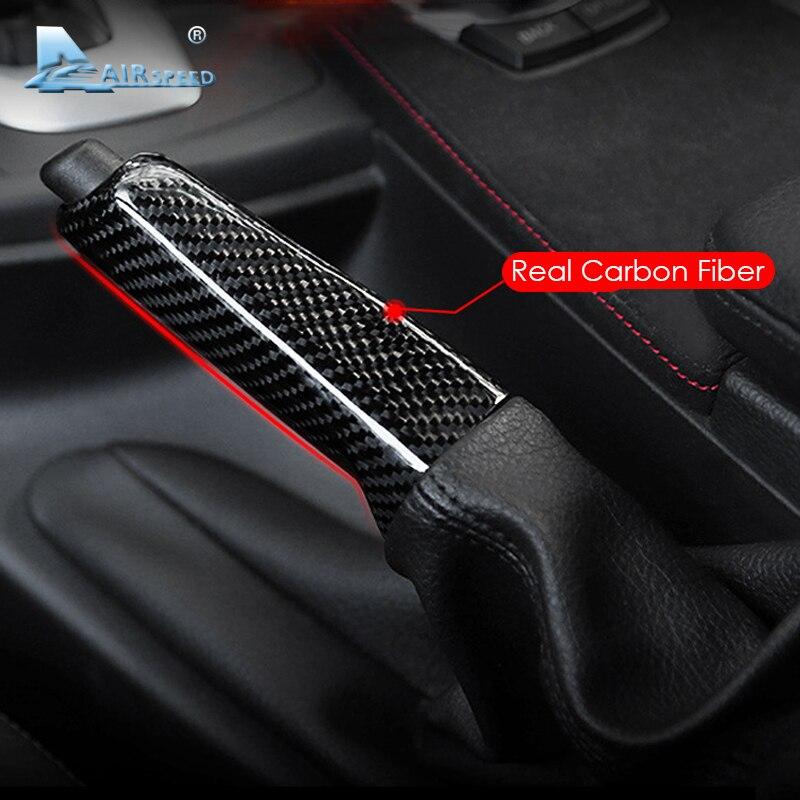 Vitesse Carbone fibre couvre-poignée de frein à main Garniture accessoires de décoration intérieure voiture pour BMW E46 E90 E92 E60 E39 E36 F30 F34 F10 F20 Accessoires