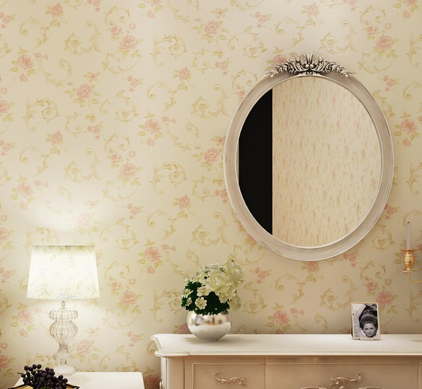 2016 new bset selling rural wallpaper floral sitting room bedroom sweet romance non-woven bedroom study wall stickers wall paper цена 2016