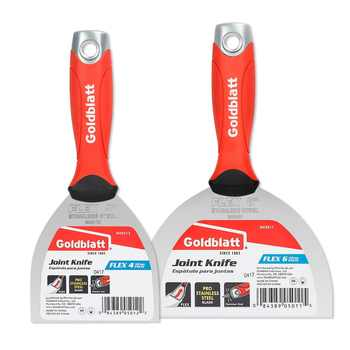 Goldblatt 2PC Putty Knife Stainless Steel Flex Joint Knife Combo Kit with Hammer End Soft Grip - DISCOUNT ITEM  50% OFF All Category
