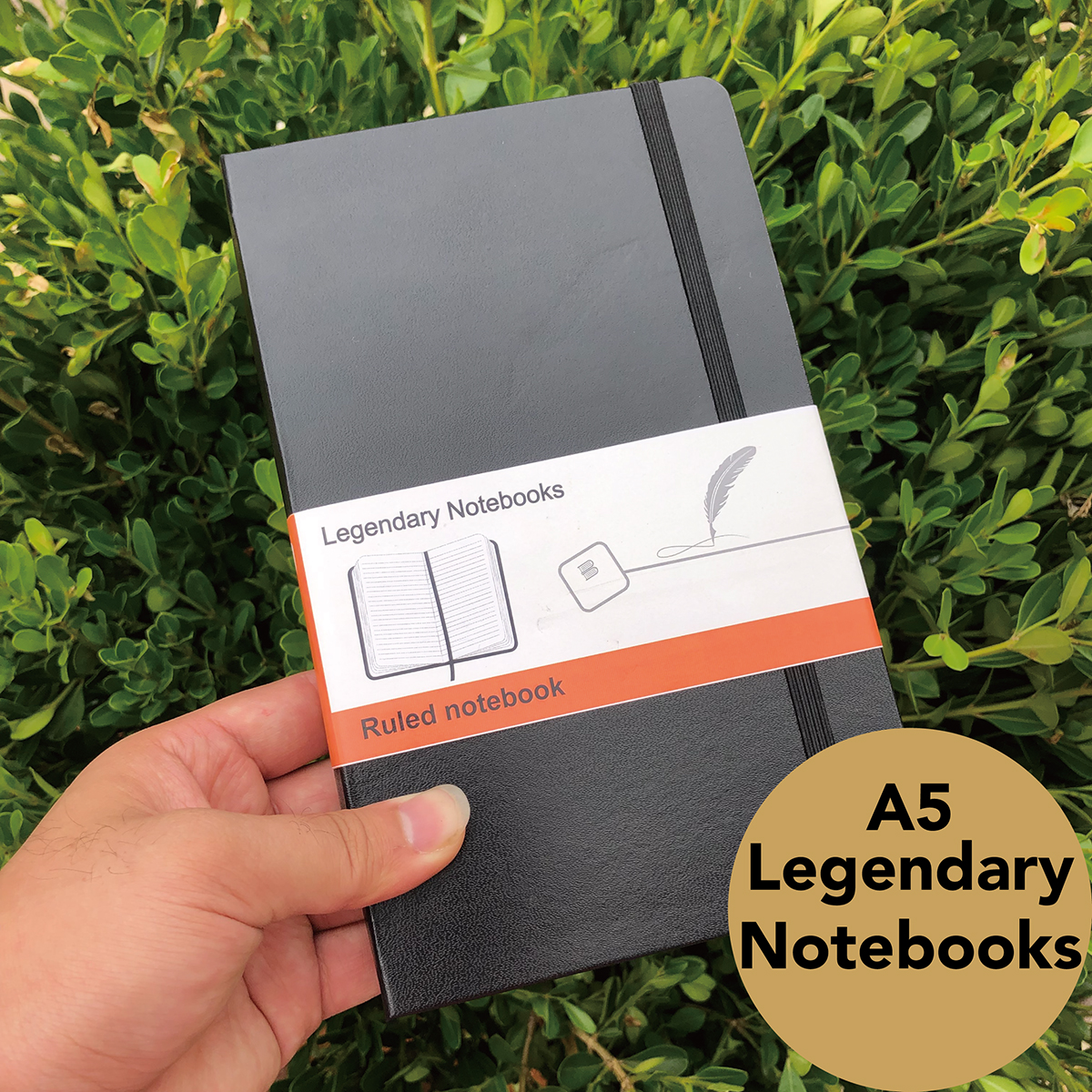 LEGENDARY NOTEBOOK HARDCOVER BULLET JOURNAL ART SKETCHBOOK DOTTED GRID PAGES/RULED/SQUARE/PLAIN 100GSM