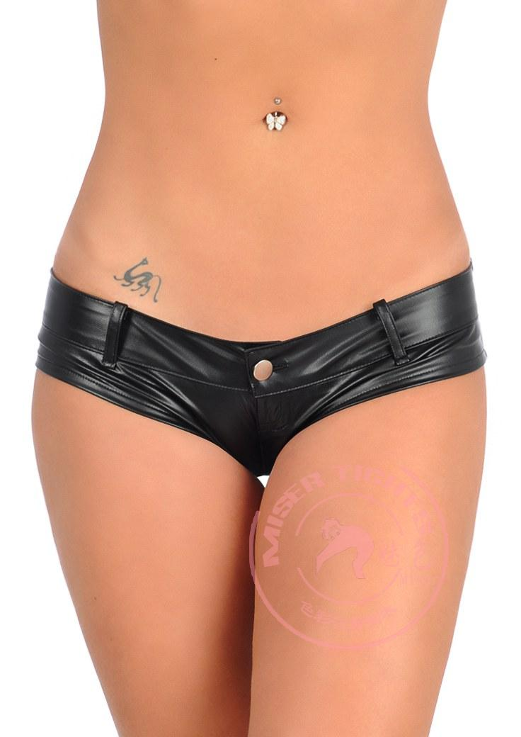 womens latex shorts