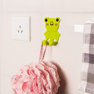 BF040 Safety hook plug bracket Creative cute animals Powerful non mark sticky hook hanging rack 9 6 3cm free shipping in Hooks Rails from Home Garden