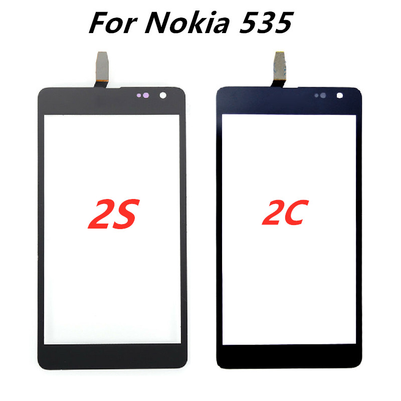 For Nokia Lumia 535 N535 CT2S1973 CT2C1607 Touch Screen Digitizer Outer Glass Panel Sensor