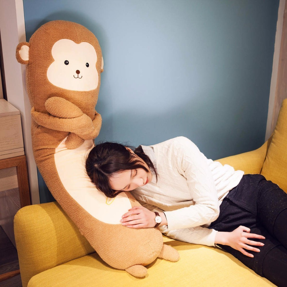 VOZRO Schöne Affe Langen Hals Reise Körper Knie Wolke Kissen Kleine Tier Schlaf Freund Almohada Dekorative Cuscini Cuscino Kissen