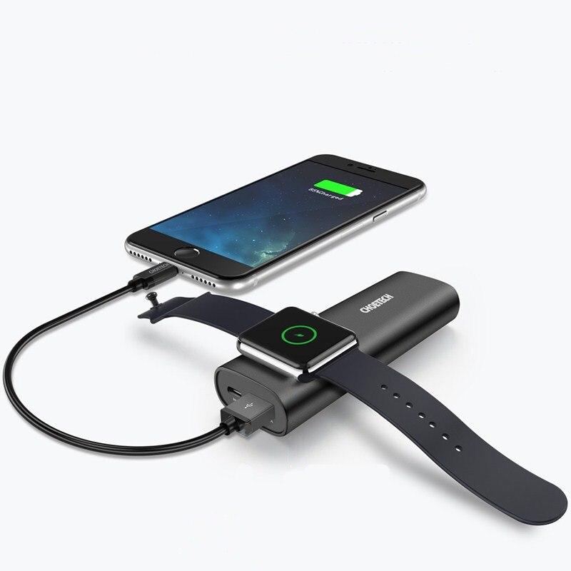 5000 mAh batterie externe pour IWatch chargeur sans fil CHOETECH batterie externe Mobile QC 4.0 charge rapide pour Apple Watch chargeur de téléphone