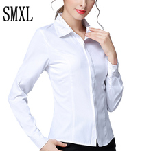 large S-5XL Pure Blouses Turn Down Collar Casual High Street Woman Fashion Shirts Feminino cotton white New Women Long Sleeve