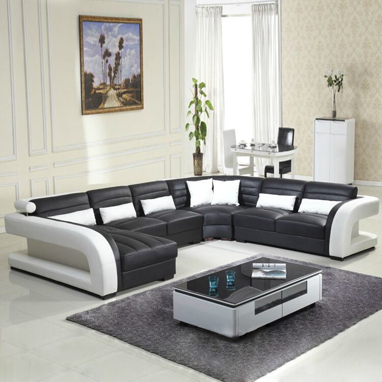 2016 new style modern sofa hot sales genuine leather sofa living ...