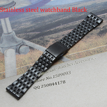 Watch Bracelet Watchband 24mm 28mm 30mm Black Stainless Steel Watch Band New High Quality Watch Straps