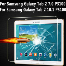 Vidrio templado Para Samsung Galaxy Tab 2 7.0 P3100 P3110 Protector de pantalla Para Samsung Galaxy Tab 2 10.1 P5100 P5110 De Vidrio