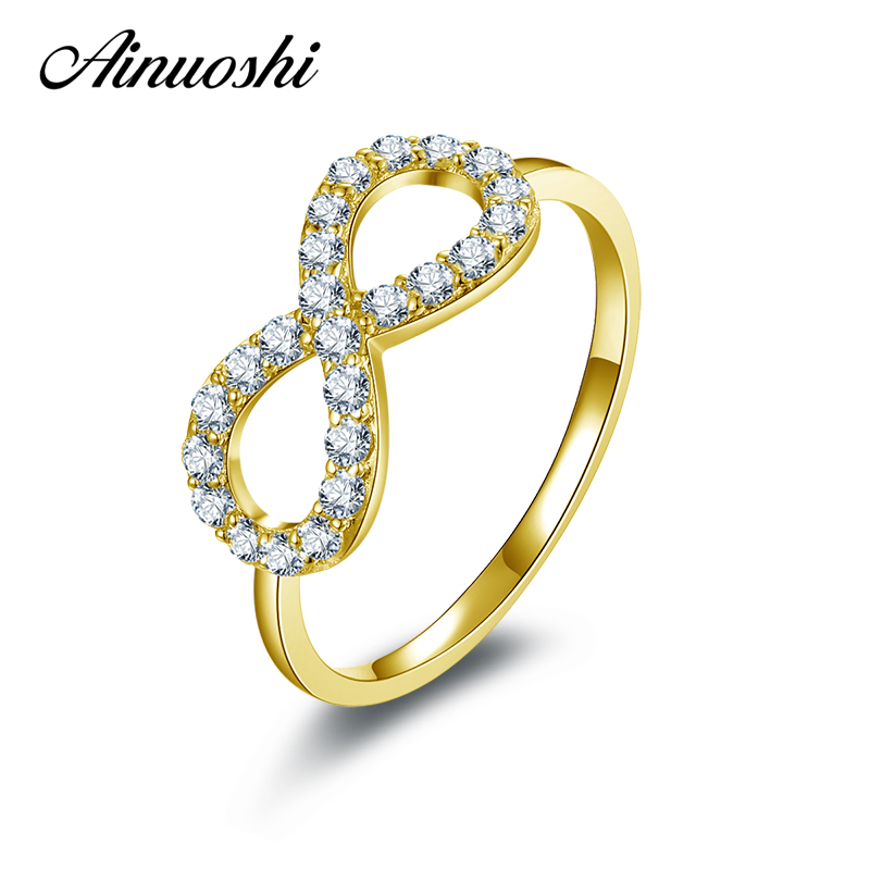 AINUOSHI 10K Solid Yellow Gold Wedding Ring Pure Gold ...