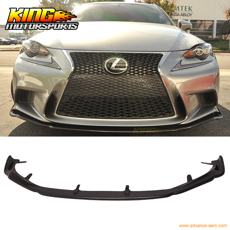 for 2014 2016 lexus is250 is350 f sport only ag style front bumper lip carbon fiber in bumpers. Black Bedroom Furniture Sets. Home Design Ideas