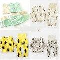15 CORES BOBO CHOSES conjuntos de roupas menino meninas do bebê roupa dos miúdos conjuntos de pijama vetement enfant garcon kikikids PINGUIM PANDA cristo