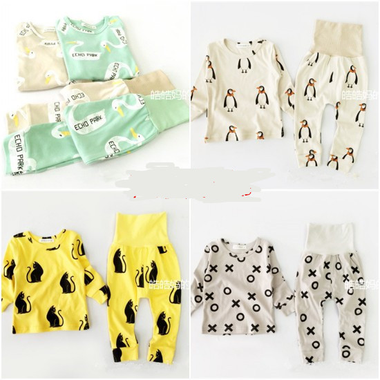 15COLORS BOBO CHOSES baby boy clothing sets baby girl clothes kids pajama sets vetement enfant garcon kikikids PENGUIN PANDA