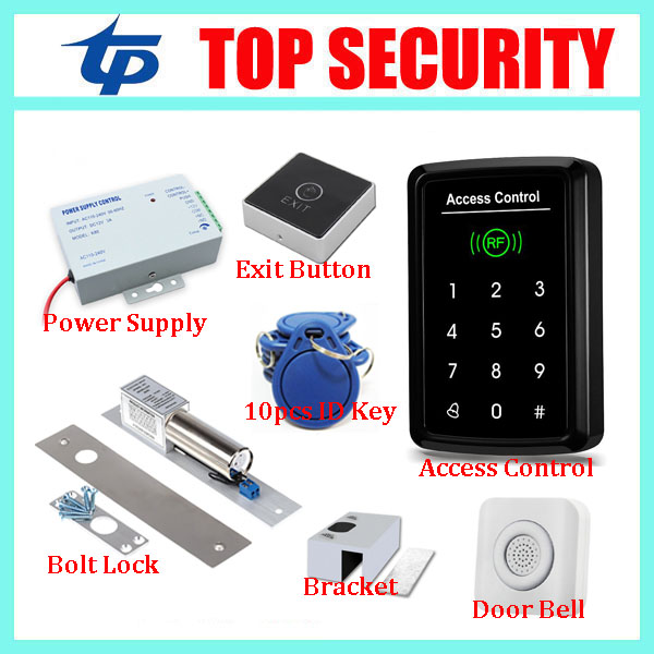 Good quality touch keypad RFID card smart proximity card door access control reader standalone single door access controller good quality smart rfid card door access control reader touch waterproof keypad 125khz id card single door access controller