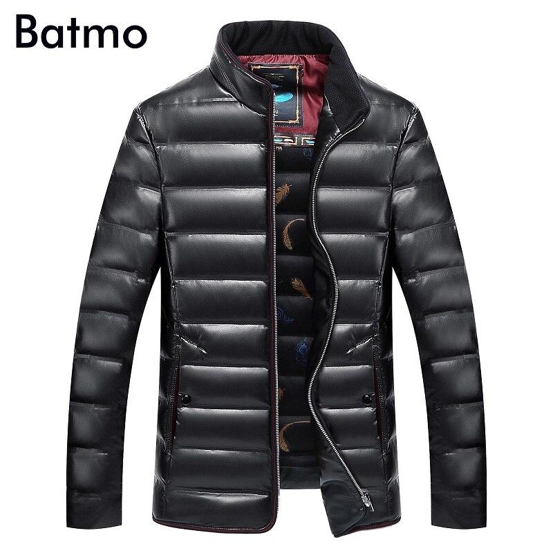 Batmo 2018 nouveau hiver haute qualité pu Blanc canard vers le bas veste hommes hiver pu veste homme taille XL, XXL, XXXL, 4XL, 5XL, 6XL, 7XL, 8XL