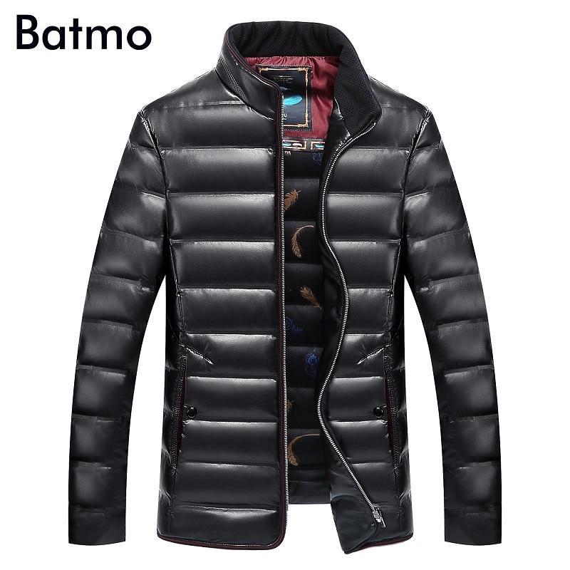 Batmo 2018 nuovo inverno di alta qualità pu piume d'anatra Bianca uomini giacca, inverno pu giacca da uomo taglia XL, XXL, XXXL, 4XL, 5XL, 6XL, 7XL, 8XL