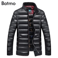 Batmo 2019 new winter high quality pu White duck down jacket men,winter pu jacket men size XL,XXL,XXXL,4XL,5XL,6XL,7XL,8XL