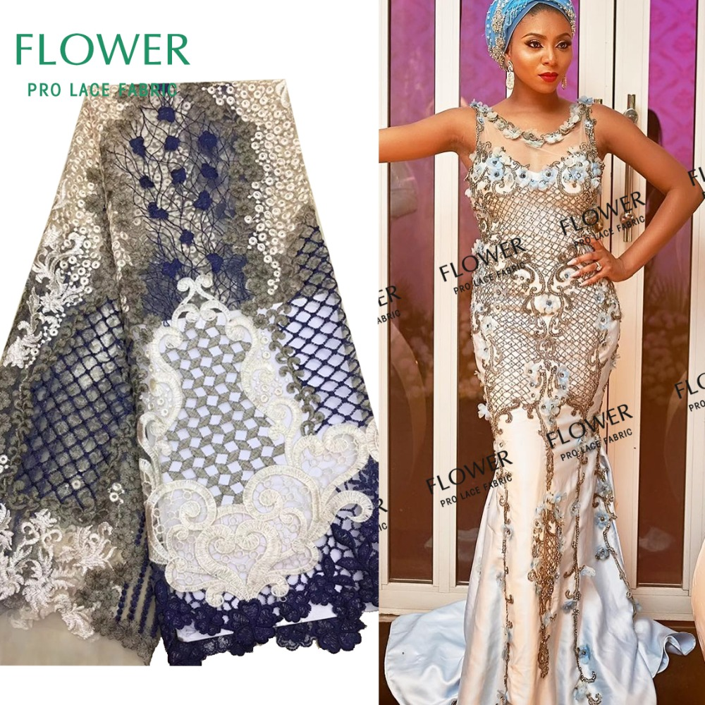 Special Design African High Quality Lace Fabric 2018 Nigeria Embroidery Net  Laces Water Soluble Style Indian Lady Dress Fabrics f58a803c2c43
