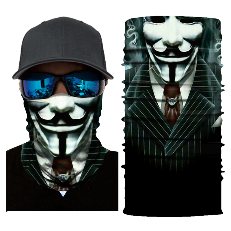 Men Motorcycle Mask Biker Face Shield Balaclava Mascara Moto Halloween Kominiarka Cagoule Visage Ghost Face Mask Motorcycle