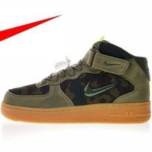 0bc0117248 Alta Qualidade Original Nike Air Force 1 Jewel Mid Homens Skateboarding  Sapatos Tênis Ao Ar Livre Leve