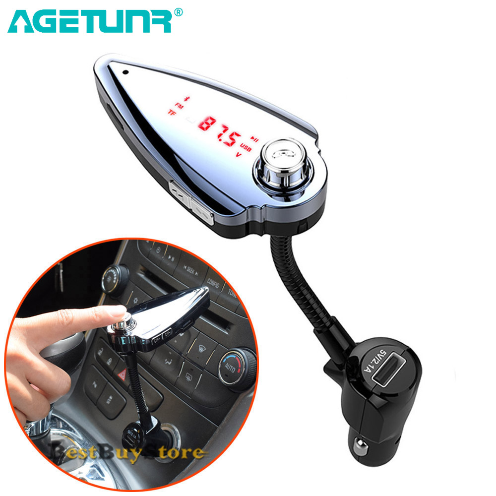 Kit de coche Bluetooth AGETUNR manos libres Set Transmisor FM - Electrónica del Automóvil