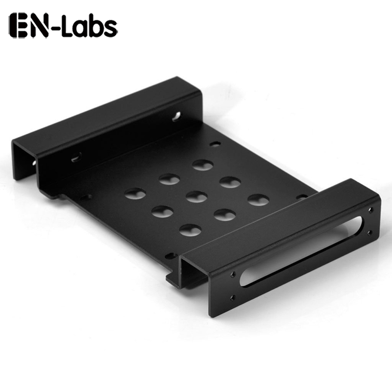 "En-Labs Aluminium 2.5 ""& 3.5"" SATA HDD SSD to 5.25 Bracket Adapter 2.5 to 5.25 nebo 3.5 to 5.25 Drive Drive Drive Converter Converter"