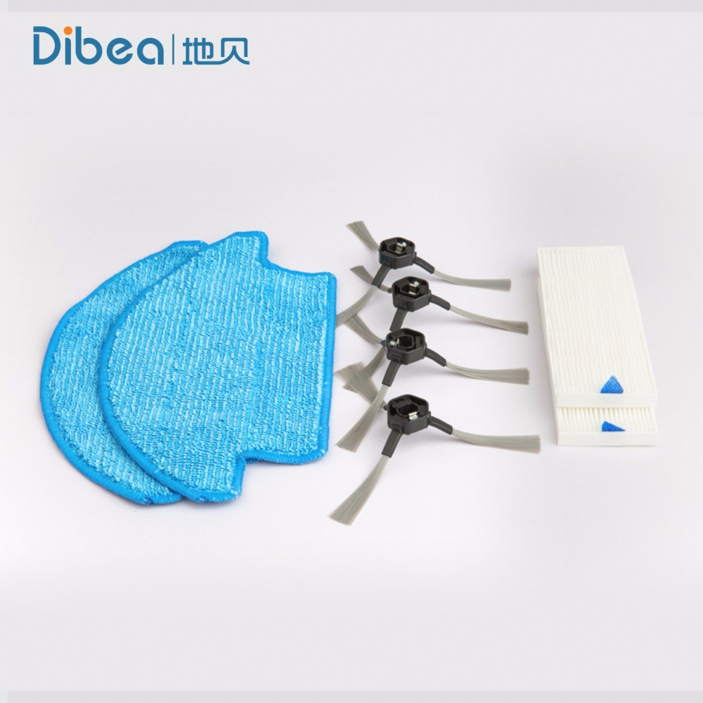 Spare Parts Replacement Including Mop Side Brush Hepa For Dibea D960 Powerful Suction Automatic Self Charging
