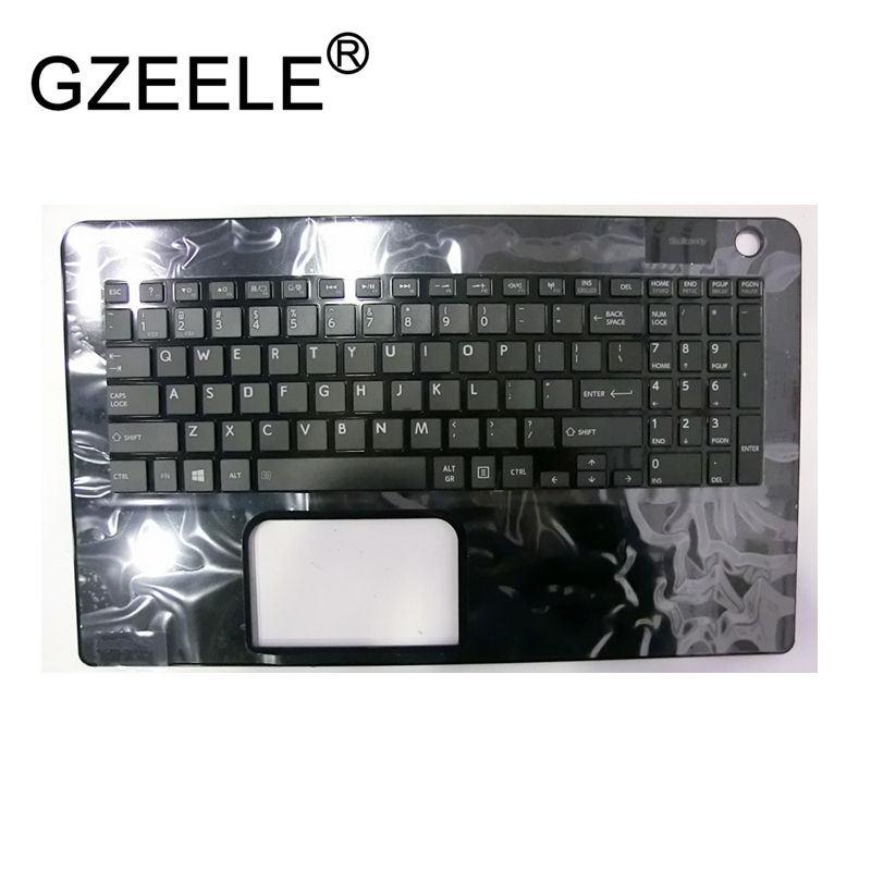 GZEELE New for Toshiba Satellite L50-B L50D-B L50DT-B L50T-B series palmrest upper case keyboard bezel laptop cover US version цена