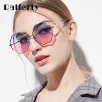 Ralferty lunettes de soleil hexagonales à la mode femmes lunettes de soleil UV400 lunettes de soleil octogonales irrégulières 2019 lunette soleil femme W047