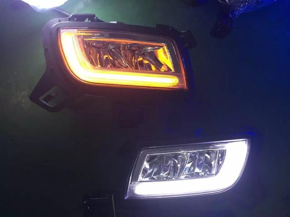 EOsuns led drl feux de jour brouillard lampe pour 2006-09 Mazda 6, top qualité avec jaune clignotants, commutateur sans fil de contrôle
