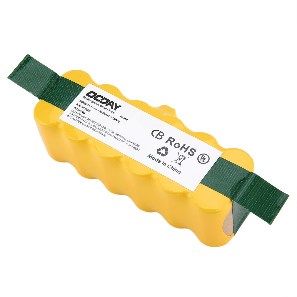 14.4V 8000mAh Ni-MH Rechargeable Battery for Irobot Roomba 500 510 530 531 535 540 545 550 560 562 570 580 581 600 78014.4V 8000mAh Ni-MH Rechargeable Battery for Irobot Roomba 500 510 530 531 535 540 545 550 560 562 570 580 581 600 780