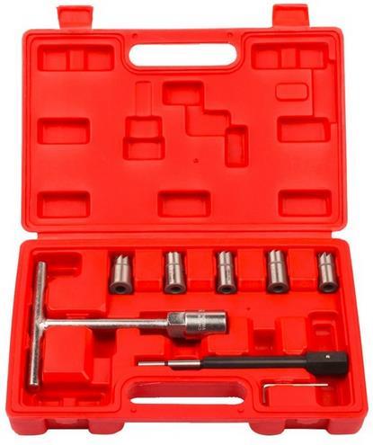 7pcs in one set Diesel Injector Seat Cutter Cleaner Diesel nozzle reamer Diesel nozzle removal tool Carbon Cutting Remover diesel diesel dz7257