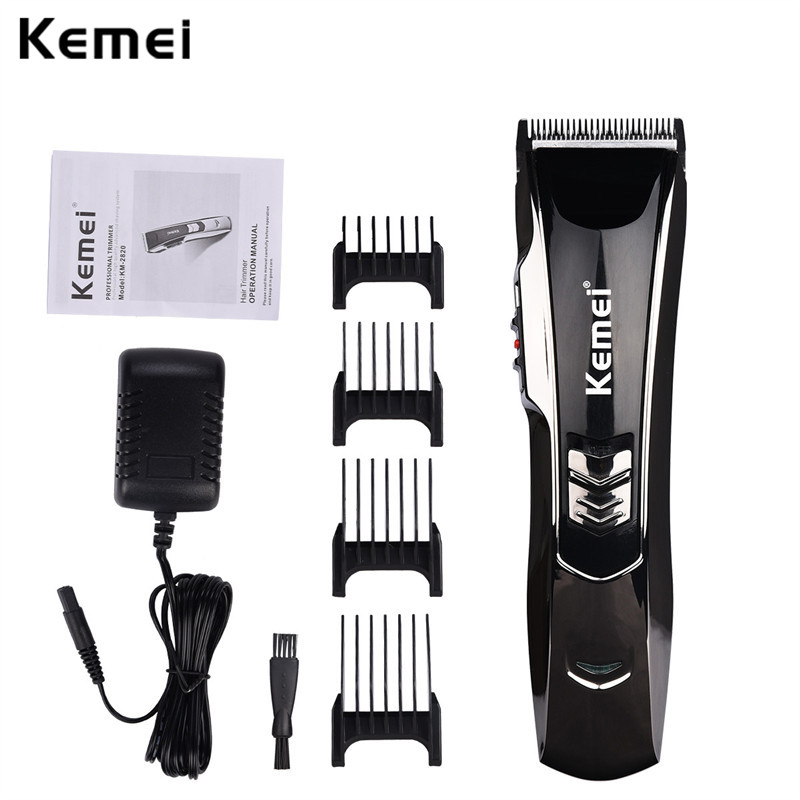 Kemei Professional Electric Hair Clipper 100-240V Rechargeable Men's Hair Trimmer Hair Cutting Machine To Haircut Beard Trimer
