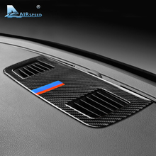 Airspeed для BMW E90 3 серии Аксессуары для салона автомобиля из углеродного волокна приборной панели кондиционер на выходе вентиляционная крышка отделка украшения