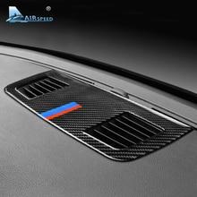 Скорости полета для BMW E90 3 серии аксессуары салона углеродного волокна кондиционер для приборной панели на выходе Vent Обложка отделка украшения
