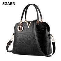 2016 New Elegant Luxury Handbags PU Leather Aligators Pattern With V Letter Shoulder Bag Crossbody Bag