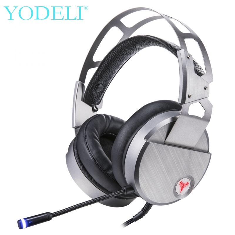 YODELI Bests Game Headset Headband Headphones with Microphone 7.1 Surround HiFi Stereo Gaming Headphone USB Wired for PC PS4 xiberia k9 usb surround stereo gaming headphone with microphone mic pc gamer led breath light headband game headset for lol cf