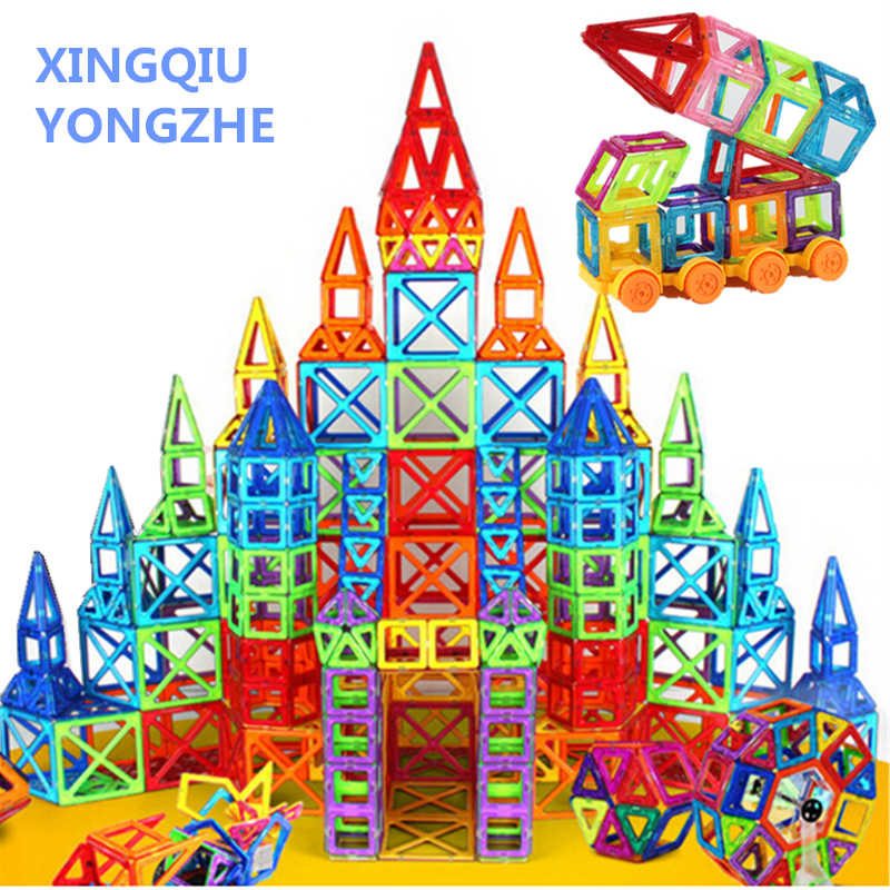 100-312pcs 20 Different Combinations of Magnetic Designer Blocks Construction Set Model & Building Toys Plastic Blocks For Kids
