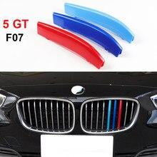 Bandes de calandre avant, pour BMW série 5GT 5GT F07 528i 535i 550i Gran Turismo, bandes de sport automobile, autocollants de couverture de Performance M
