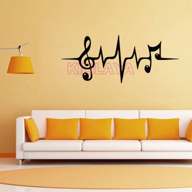 Vinyl Wall Stickers Home Decor Living Room Music Notes Removable Wall  Sticker Walls Decals House Decoration